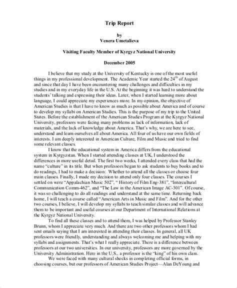 Essay On Field Trip by Field Trip Report Essay Sle Docoments Ojazlink