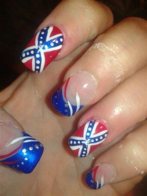 Rebel Flag Nail Design confederate flag nails nails flag nails