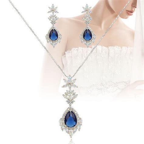 Parure bijoux marriage bleu davinci