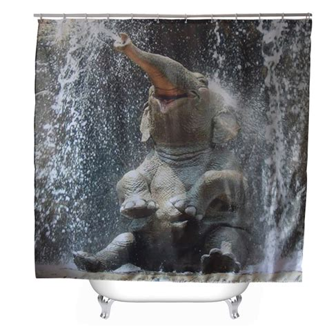 elephant shower curtain svetanya baby elephant printed shower curtains bath products bathroom decor with hooks