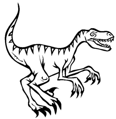Coloring Page Velociraptor by Raptor Coloring Pages And Print For Free