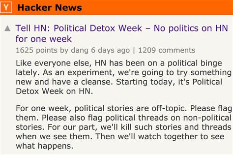 Detox The Hacker by Learning From Hacker News Quot Detox Quot Experiment A Change