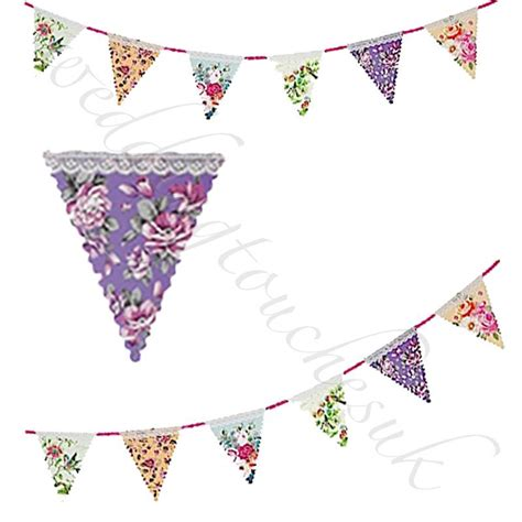 Wedding Bunting Banner Uk by Floral Bunting Banner Garland Wedding Tea Bunting
