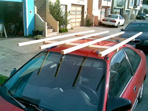 How To Tie Wood To Roof Rack by Drywall And Plywood Cartop Carrier Roof Rack