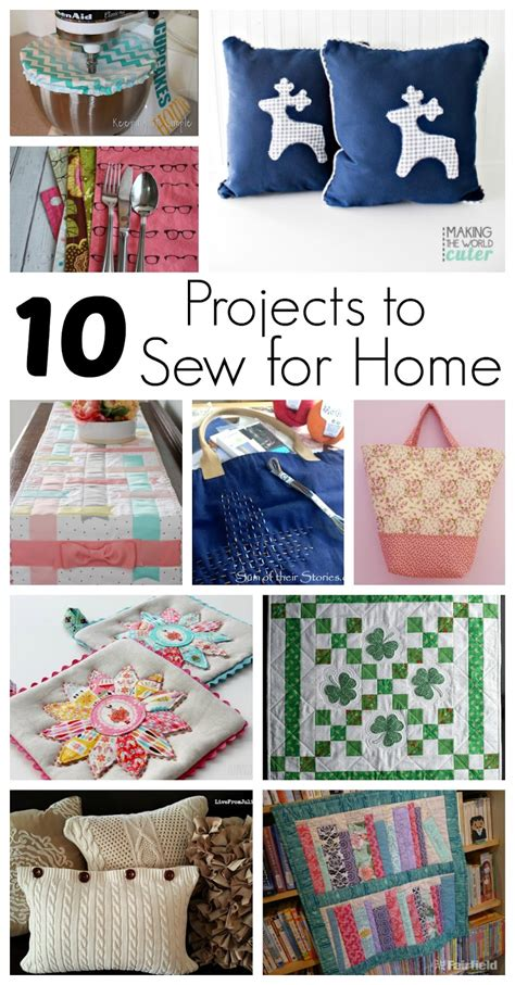 diy decorations sewing 10 projects to sew for home and block gun ramblings