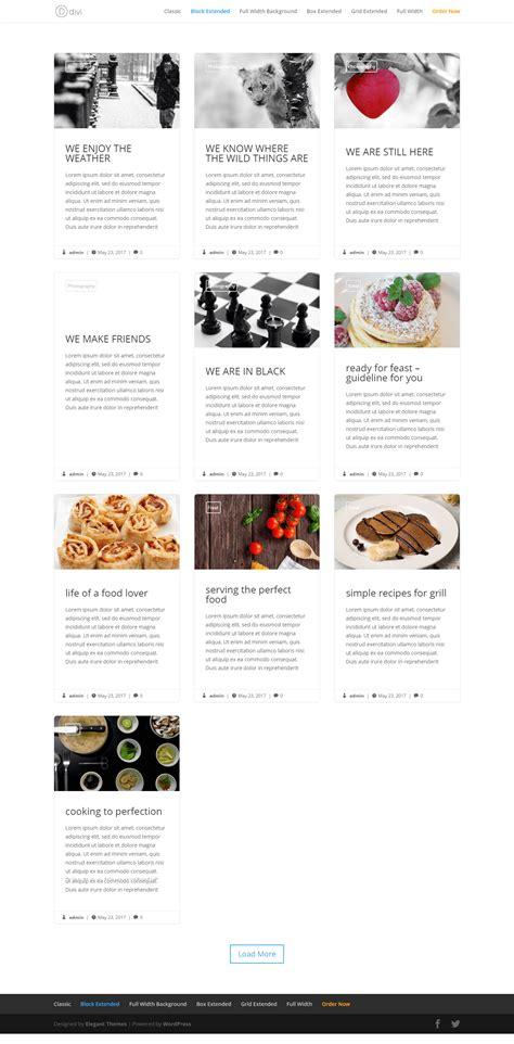 blog layout divi divi blog extras divi blog layout plugin for creating