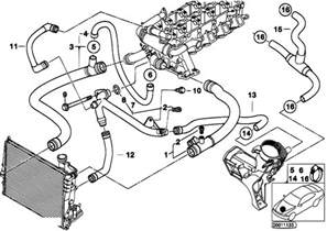 original parts for e46 320d m47 touring engine cooling system water hoses estore central