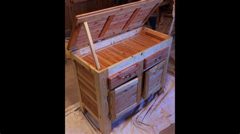 pallet wood storage cabinet   pallet wood cut