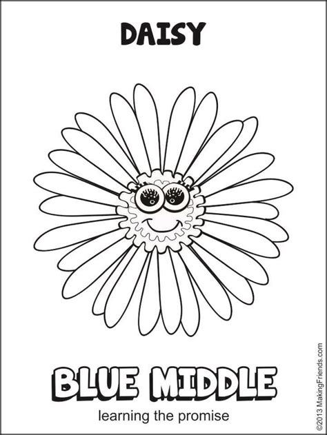Girl Scout Daisy Blue Promise Center Scout Coloring Pages For Daisies Printable
