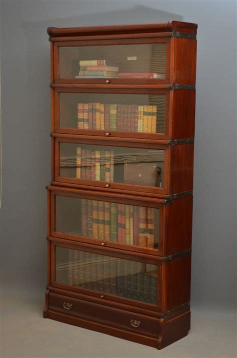 bookshelves uk globe wernicke mahogany bookcase 250233