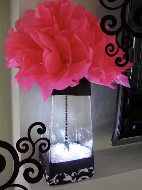 Hot Pink And Black Party Decoration Ideas   Psoriasisguru.com