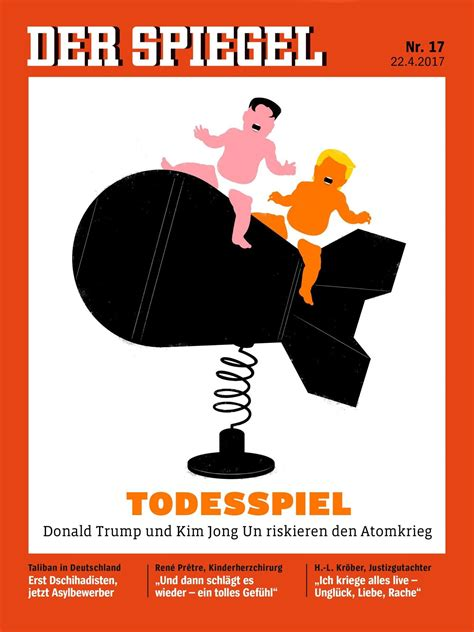 dekor spiegel der spiegel cover jong un and on warhead