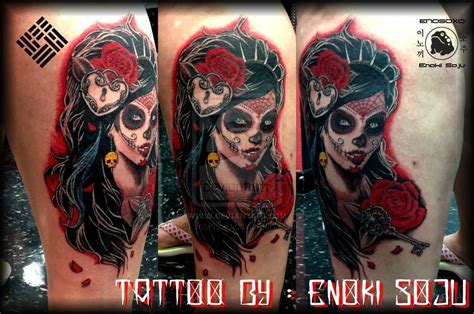 dead girl tattoo designs day of the dead images designs