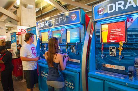bud light vending machine self serve machines debut at ballpark