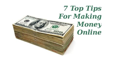 Money Making Tips Online - 7 top tips for making money online online income teacher