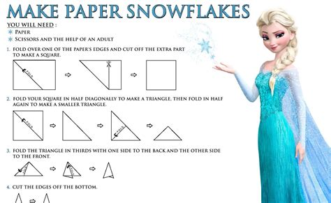 How To Make Paper With Children - paper snowflakes free disney s frozen printables