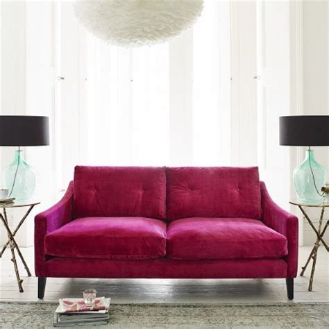 raspberry velvet sofa sofa pink eclectic sofas by graham and