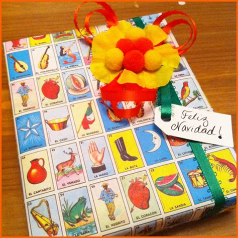 12 gift wrapping days of christmas day 1 loteria style