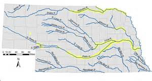 rivers of map map of nebraska rivers and lakes