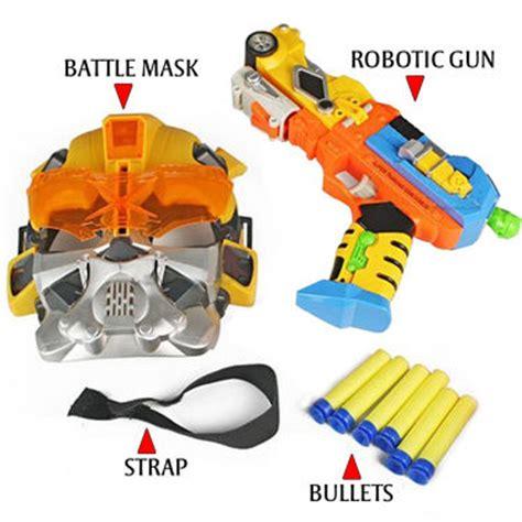 Mainan Pistol Senapan Soft Bullet Flash Sucker buy transformer robotic gun with battle mask 6 bullets lights sound at