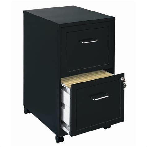mobile 2 drawer file cabinet in black 16872