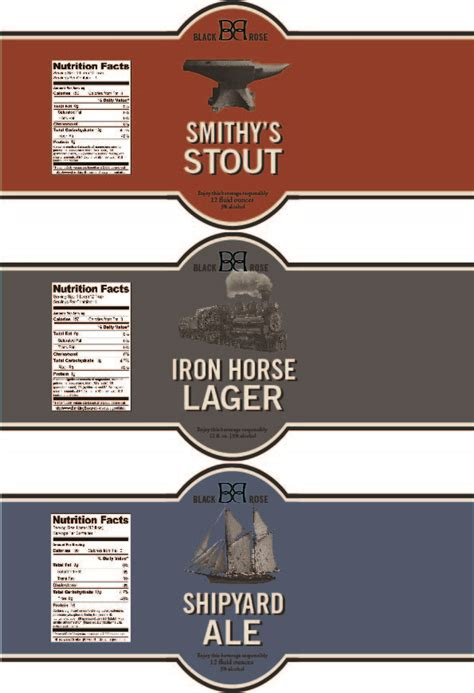 bottle label design templates graphic design two kate s class portfolio page 2