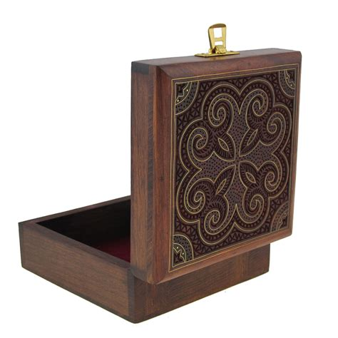 Handcrafted Wood Jewelry Boxes - handcrafted jewelry box wood storage box carved