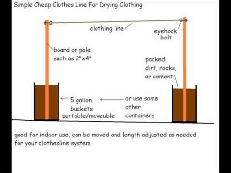 simple indoor clothesline idea moveable, length, and