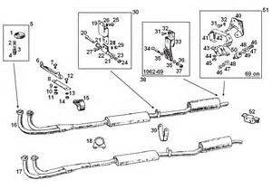 Mgb Exhaust System Diagram Mgb Exhaust System Mountings