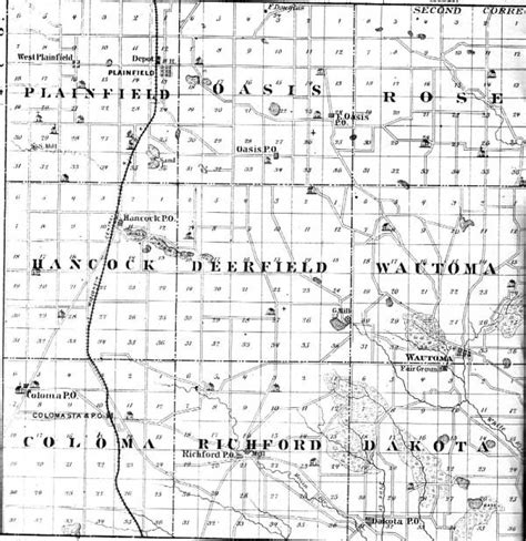 one half from the east books 1878 waushara county map