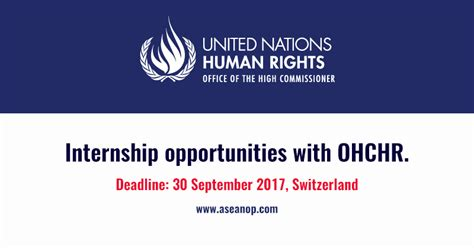 Human Rights Beirut Internship Internship At United Nations High Commissioner For Human Rights In Switzerland Asean Opportunities