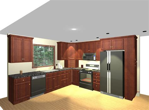 L shaped kitchen with corner pantry   Video and Photos
