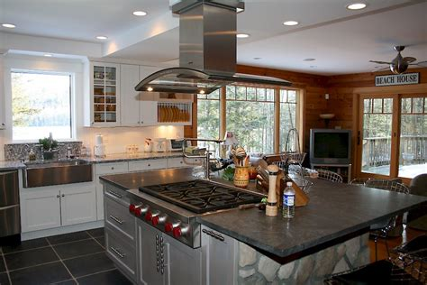White Kitchen Island With Seating White Open Spaces Categorized Under Modern Kitchen Portfolio