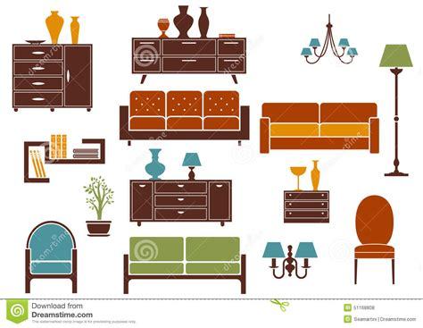 home design elements reviews furniture and home interior flat design elements stock vector image 51168808