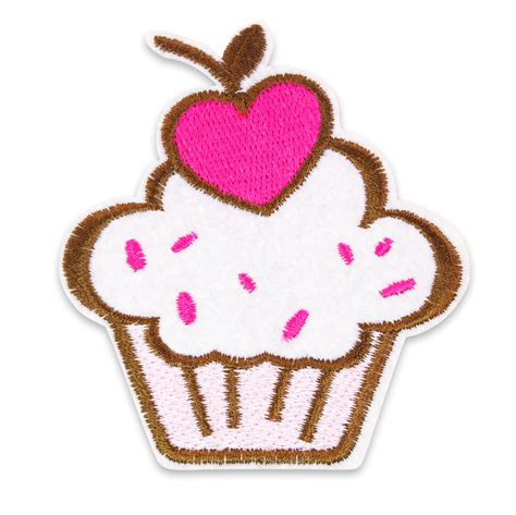 Patch Popcorn Patches Iron On Patch large kawaii cupcake embroidered iron on sew on patch badge kitsch diy craft ebay