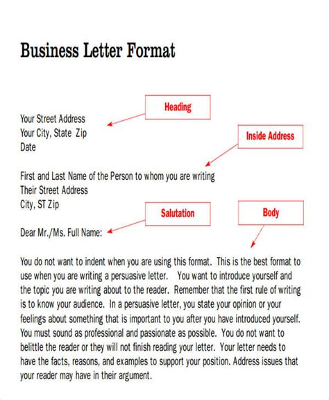 heading in business letter sle business letter heading format exle tomyumtumweb