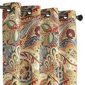 brown paisley curtains vibrant paisley grommet curtain pier 1 imports