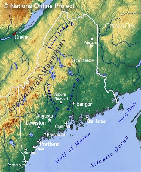 where is maine usa on map reference maps of maine usa nations project
