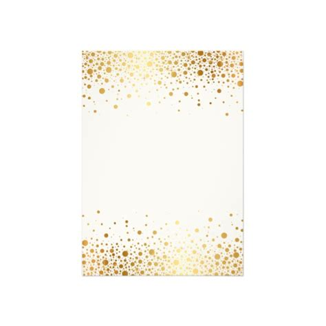 Faux Foil Confetti (Gold and White) Engagement Party Invitation   Luxury Wedding Invites