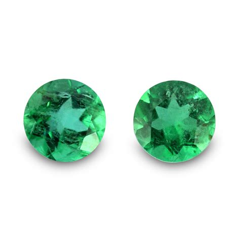 0 46 carat green emerald gemstone cut pair ebay