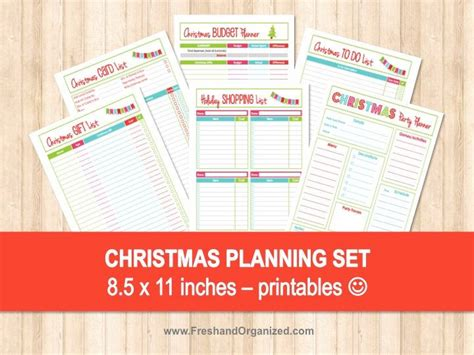 free printable christmas planner set stay organized this 107 best organize images on pinterest households