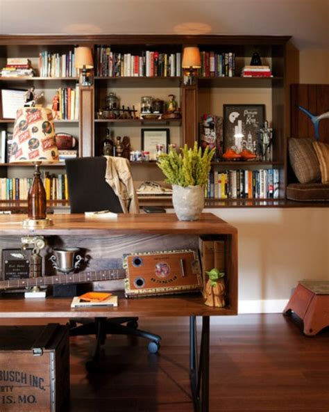 dramatic masculine home office design ideas  men