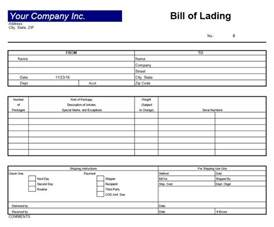 bill of lading template excel bill of lading template excel templates excel