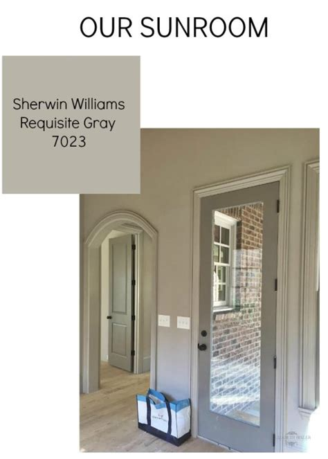 French Doors Dining Room by Sherwin Williams Gray Versus Greige