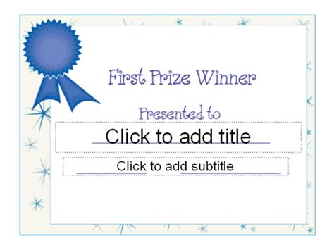 winner certificate template templates certificates prize award certificate other