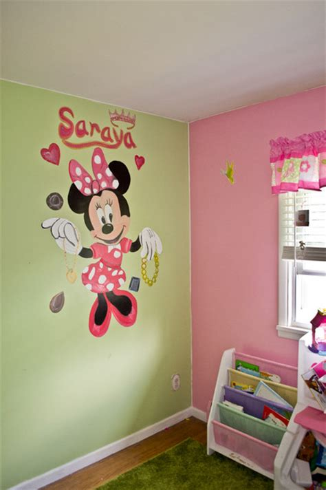 minnie mouse kids bedroom minnie mouse girls bedroom murals traditional kids other by cny murals