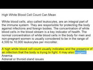 high white blood cell count can