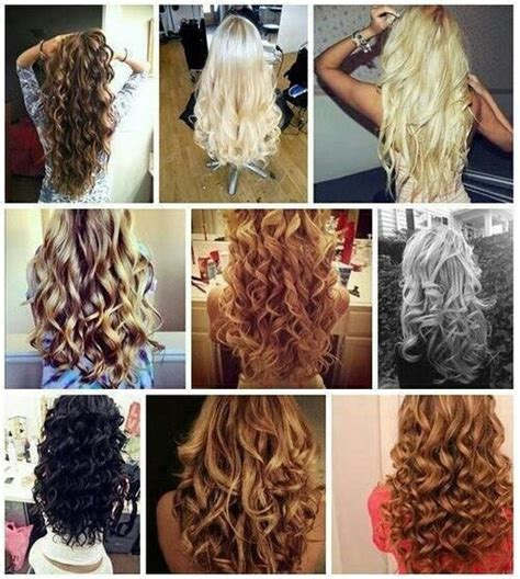 different hair styles withthe wand different curls hair fedish pinterest