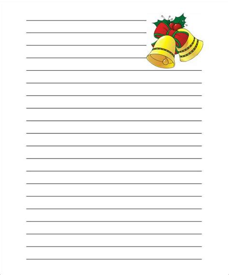 Christmas Letter Template With Lines Theveliger Letter Template With Lines