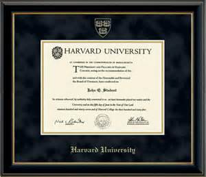 harvard university gold embossed diploma frame in onyx